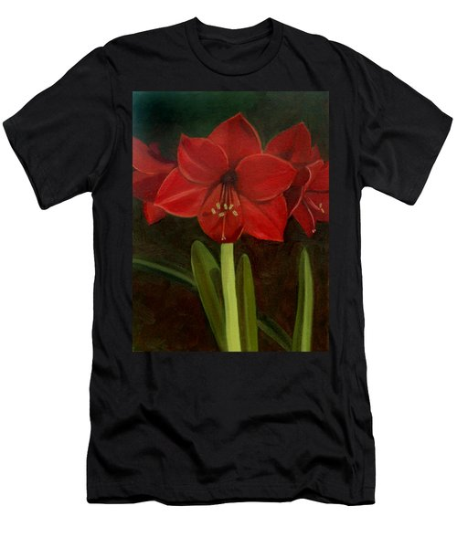 Men's T-Shirt (Slim Fit) featuring the painting Amaryllis by Nancy Griswold