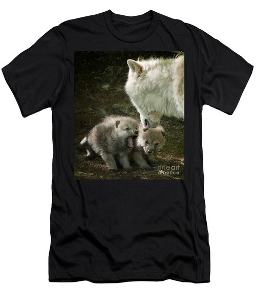 Arctic Wolf Pups Men's T-Shirt (Athletic Fit)