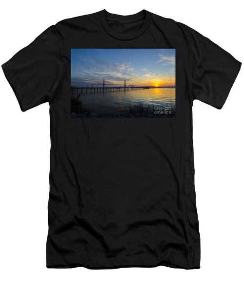 Men's T-Shirt (Slim Fit) featuring the photograph Sunset Over The Charleston Waters by Dale Powell