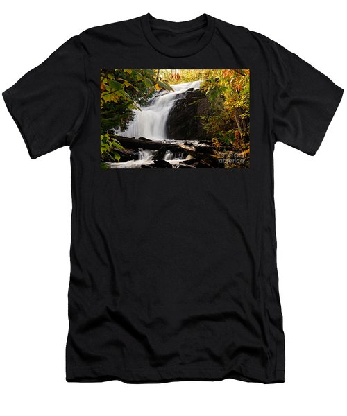 Autumn At Cattyman Falls Men's T-Shirt (Athletic Fit)