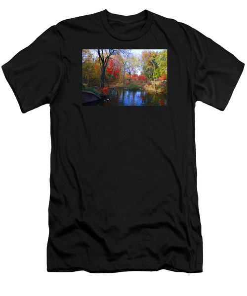 Autumn By The Creek Men's T-Shirt (Slim Fit) by Dora Sofia Caputo Photographic Art and Design