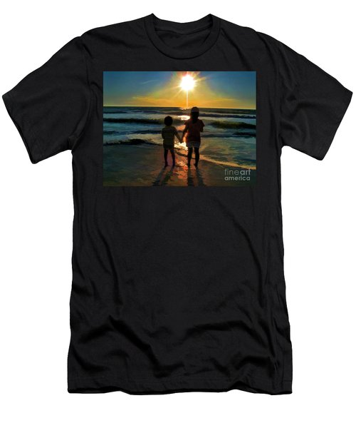 Beach Kids Men's T-Shirt (Athletic Fit)