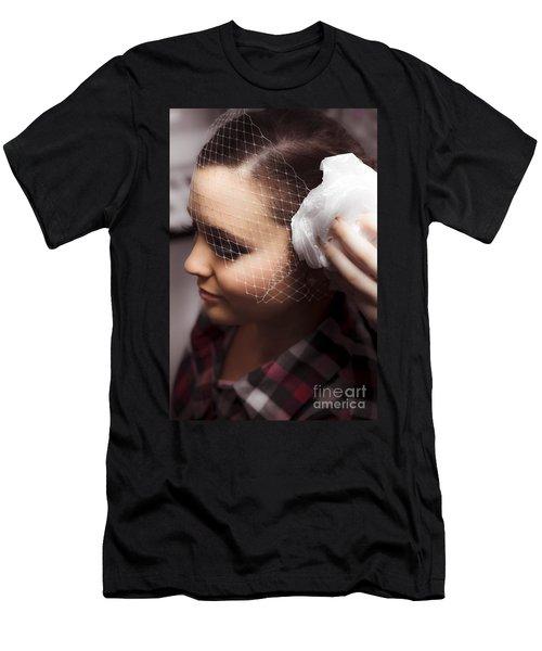 Birdcage Veil Men's T-Shirt (Athletic Fit)