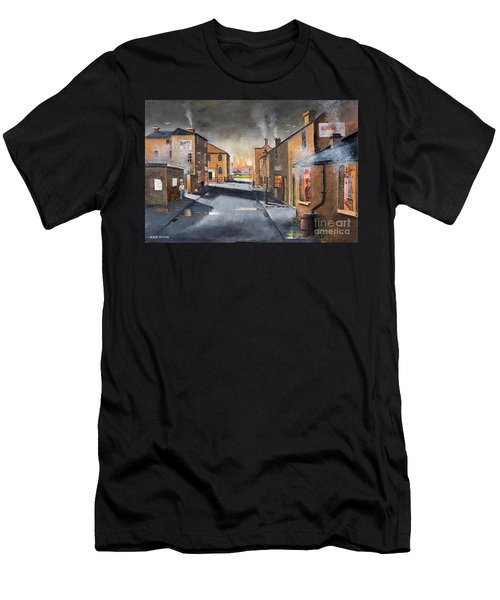 Black Country Village From The Boat Yard Men's T-Shirt (Athletic Fit)