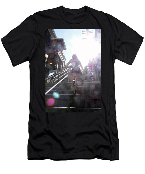 Blink Men's T-Shirt (Slim Fit) by Nick David