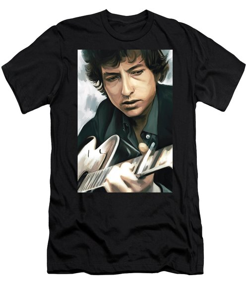 Bob Dylan Artwork Men's T-Shirt (Slim Fit) by Sheraz A