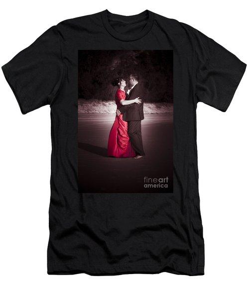 Bride And Groom Dancing Men's T-Shirt (Athletic Fit)