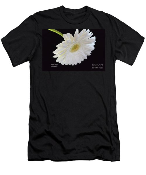 Men's T-Shirt (Slim Fit) featuring the photograph Bright White Gerber Daisy # 2 by Jeannie Rhode