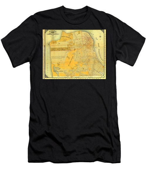Britton And Reys Guide Map Of The City Of San Francisco. 1887. Men's T-Shirt (Athletic Fit)