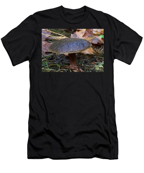 Men's T-Shirt (Slim Fit) featuring the photograph Brown Toadstool by Chalet Roome-Rigdon