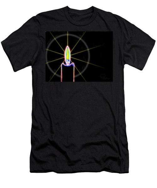 Men's T-Shirt (Slim Fit) featuring the photograph Candle by Ludwig Keck