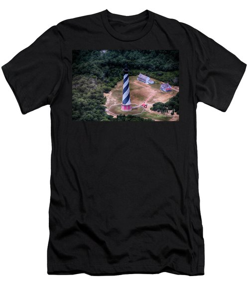 Cape Hatteras Lighthouse From Above Men's T-Shirt (Athletic Fit)