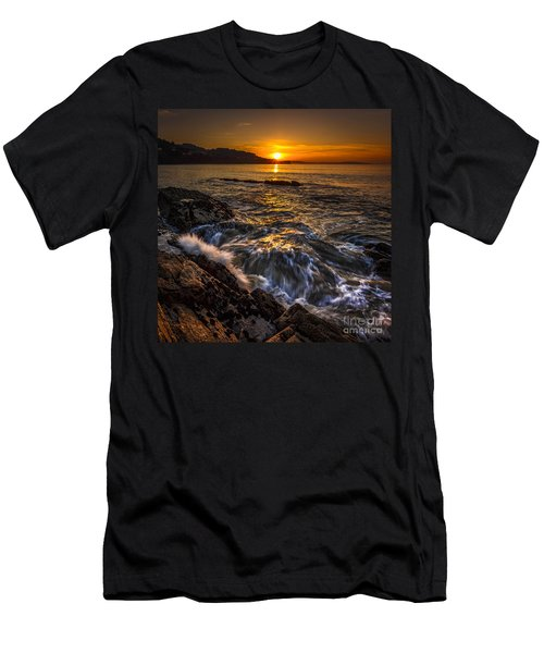 Chamoso Point In Ares Estuary Galicia Spain Men's T-Shirt (Athletic Fit)