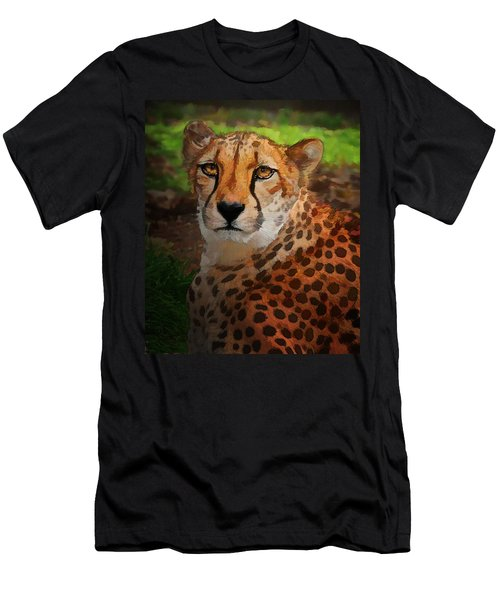 Cheetah Mama Men's T-Shirt (Athletic Fit)