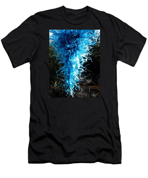Chihuly In Blue Men's T-Shirt (Slim Fit) by Menachem Ganon