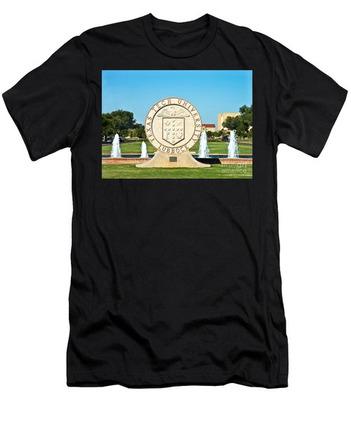 Men's T-Shirt (Athletic Fit) featuring the photograph Classical Image Of The Texas Tech University Seal  by Mae Wertz