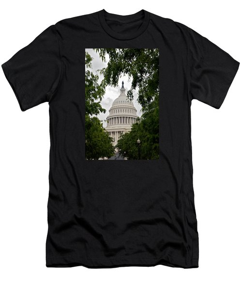 Clouds Over The Capitol Men's T-Shirt (Slim Fit) by Lawrence Boothby