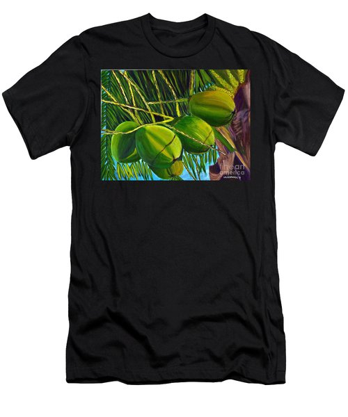 Coconuts At Sunset Men's T-Shirt (Athletic Fit)