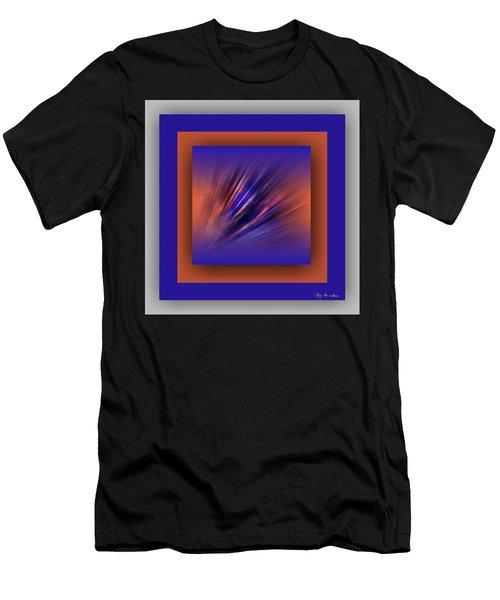 Men's T-Shirt (Athletic Fit) featuring the digital art Collage Blue by Mihaela Stancu
