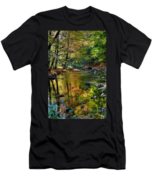 Men's T-Shirt (Slim Fit) featuring the photograph Color Creek by Robert Pearson