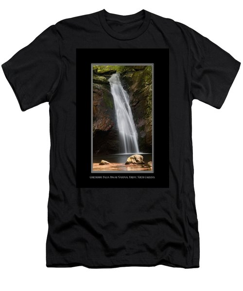 Courthouse Falls North Carolina Men's T-Shirt (Athletic Fit)