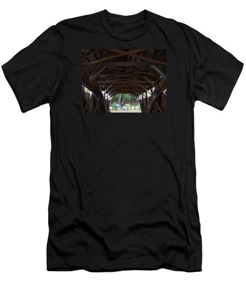 Covered Bridge Men's T-Shirt (Slim Fit) by Catherine Gagne