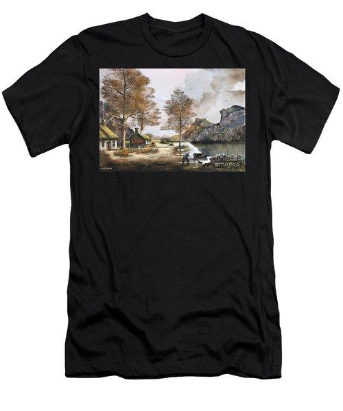 Crofters Cottages Men's T-Shirt (Athletic Fit)