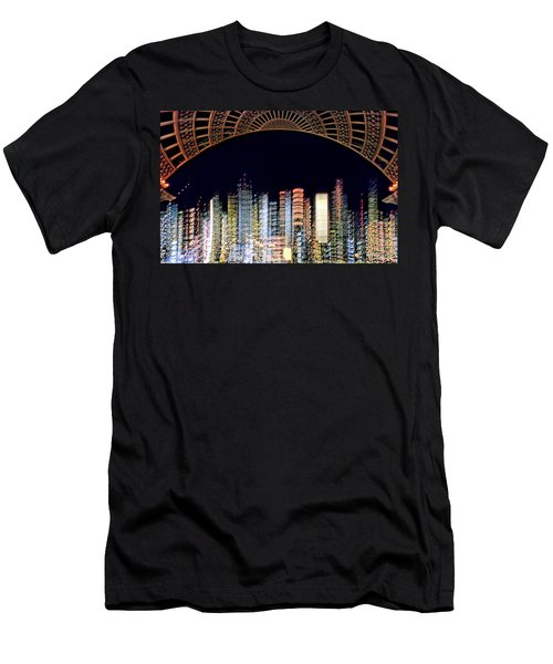 Dallas At Night Men's T-Shirt (Athletic Fit)