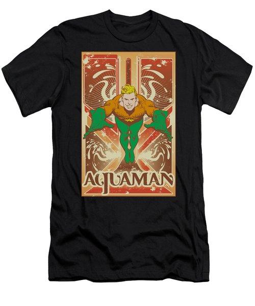 Dc - Aquaman Men's T-Shirt (Athletic Fit)
