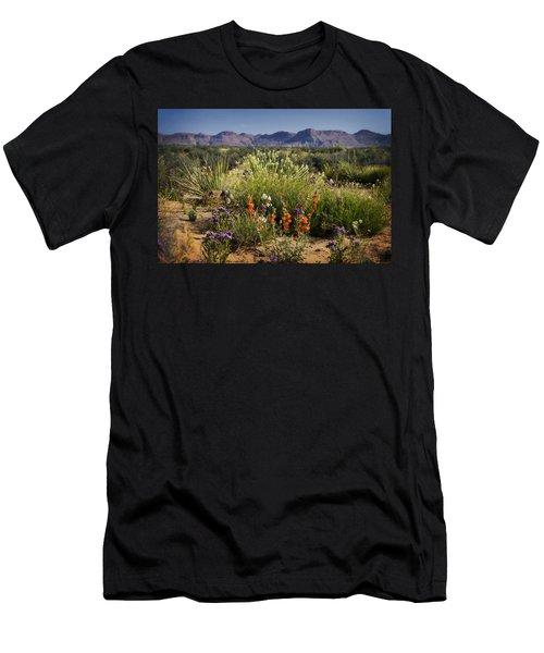Desert Wildflowers Men's T-Shirt (Slim Fit) by Saija  Lehtonen