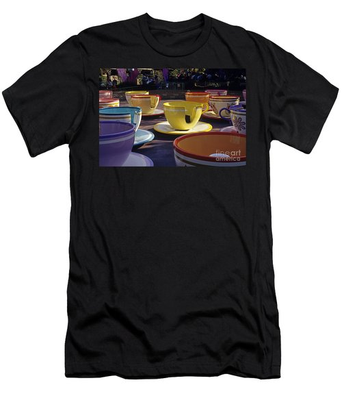Disneyland Rides Mad Tea Party Ride Anaheim California Usa Men's T-Shirt (Athletic Fit)