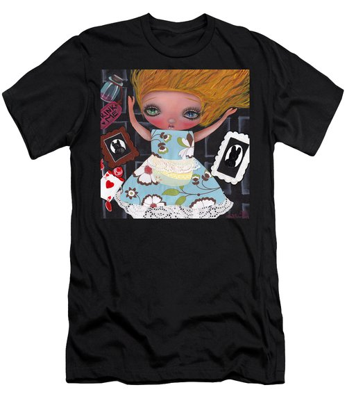 Down The Rabbit Hole Men's T-Shirt (Slim Fit) by Abril Andrade Griffith
