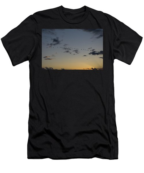 Evening Flight Men's T-Shirt (Athletic Fit)