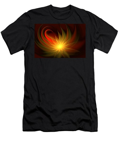Men's T-Shirt (Slim Fit) featuring the digital art Exotic Flower by Svetlana Nikolova