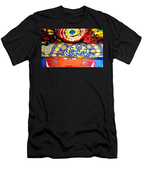 Men's T-Shirt (Slim Fit) featuring the photograph Eye On Fabrics by Michael Hoard