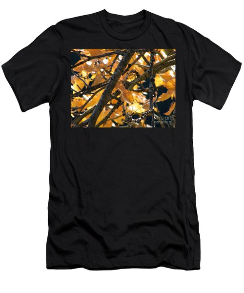 Men's T-Shirt (Athletic Fit) featuring the photograph Fall Leaves by Ann E Robson