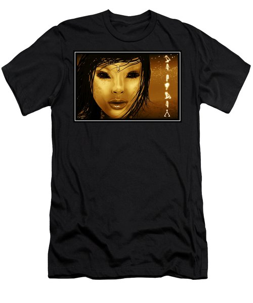 Men's T-Shirt (Slim Fit) featuring the digital art Alien Witch by John Wills