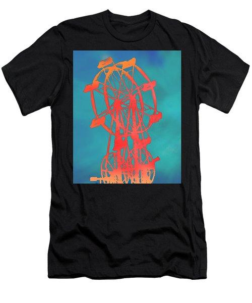 Ferris Wheel Pop Art Men's T-Shirt (Athletic Fit)