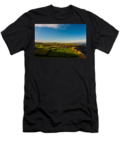 Fields Of Green And Yellow Men's T-Shirt (Athletic Fit)