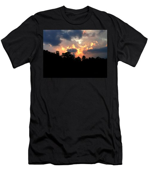 Men's T-Shirt (Slim Fit) featuring the photograph Fire In The Sky by Craig T Burgwardt