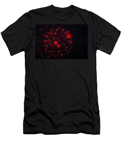 Men's T-Shirt (Slim Fit) featuring the photograph Fireworks by Rowana Ray