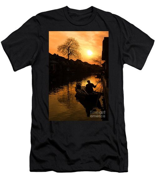Men's T-Shirt (Athletic Fit) featuring the photograph Fisherman by Yew Kwang