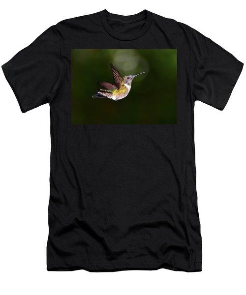 Flight Of A Hummingbird Men's T-Shirt (Athletic Fit)