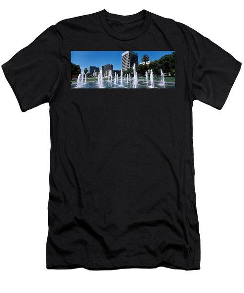 Fountain In A Park, Plaza De Cesar Men's T-Shirt (Athletic Fit)