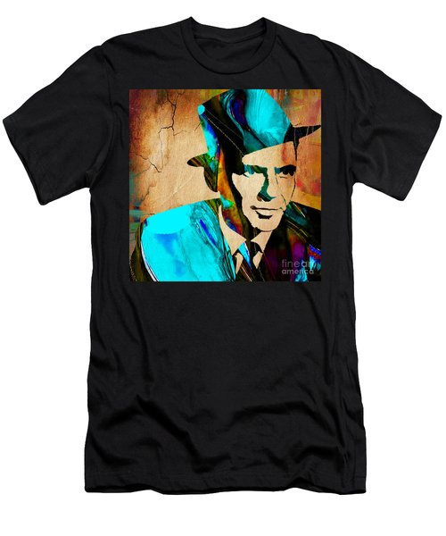 Frank Sinatra Paintings Men's T-Shirt (Slim Fit) by Marvin Blaine