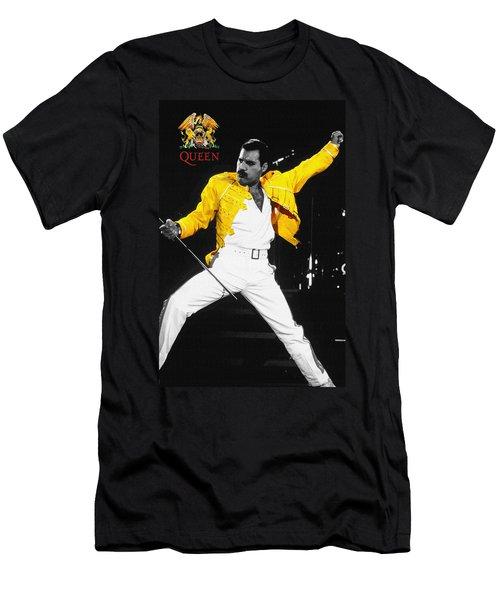 Freddie Mercury Live In Wembley1986    Men's T-Shirt (Athletic Fit)