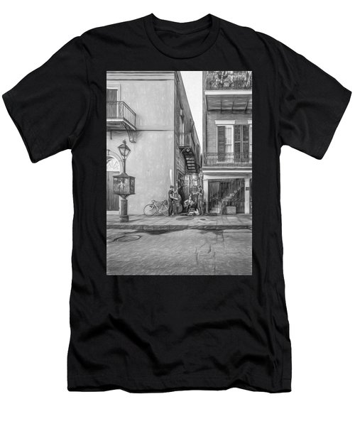 French Quarter Trio - Paint Bw Men's T-Shirt (Athletic Fit)
