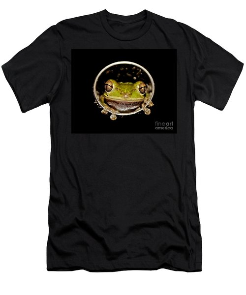 Men's T-Shirt (Slim Fit) featuring the photograph Frog by Olga Hamilton