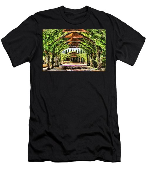 Men's T-Shirt (Slim Fit) featuring the painting Garden by Muhie Kanawati