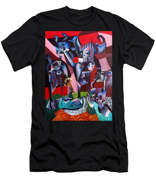 Gaungian Dimensional Men's T-Shirt (Slim Fit) by Ryan Demaree